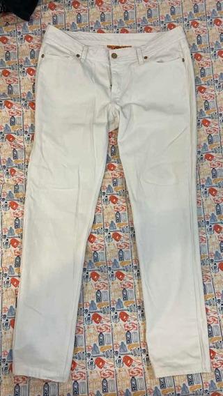 Jeans Tory Burch Skinny Dama Talla 30 Blancos