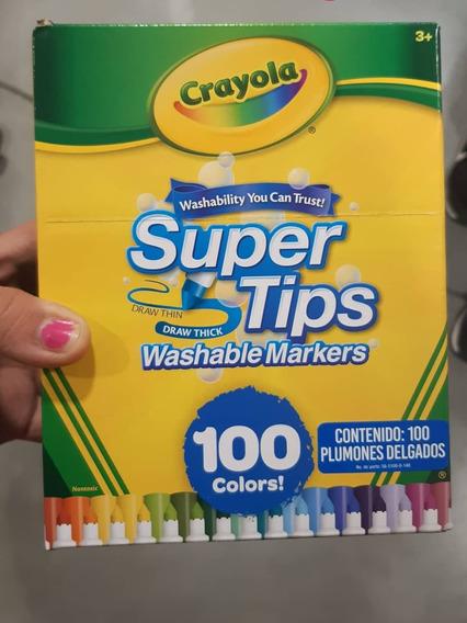 Plumones Crayola Lavables Supertips De 100pzs