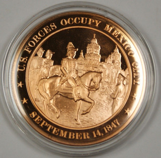 Medalla Conmemorativa Franklin Mint Guerra Mexico City