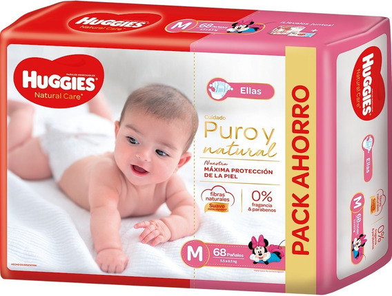 Huggies Natural Care Para Ellas/ellos Mx68 Gx68 Xgx58 Xxgx56