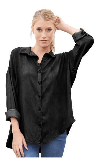 Camisa Dama Oversized Satén. Elegante Sport. Mistica Urbana®