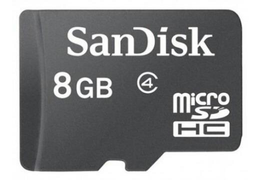Cartão De Memória De 8gb Sandisk
