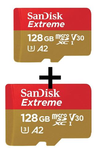 Kit 2 Cartão De Memória Sandisk Extreme 128gb,original