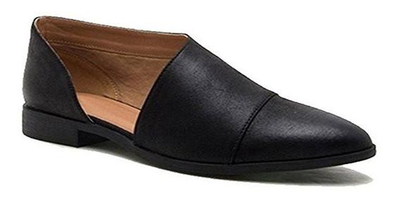 Zapatos Planos De Cuero Pu De Moda Punta Redonda Para Dama