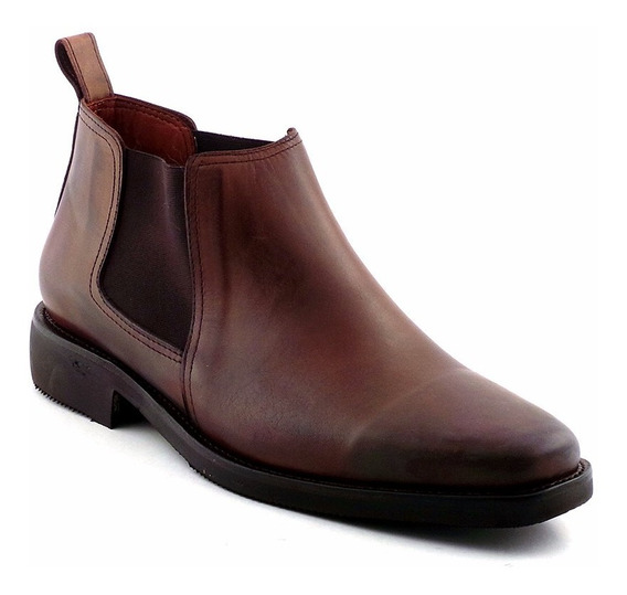 Bota Hombre Zapato Vestir Cuero Botineta Briganti Hcbo00767