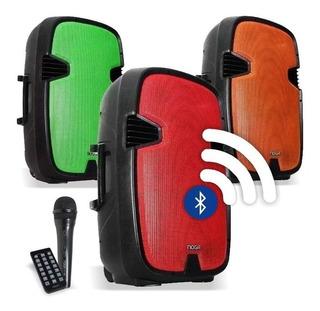 Parlante Bluetooth Portátil 15 Karaoke Noga Qx23 45w Rms