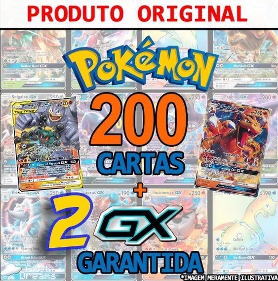 Lote 200 Cartas Pokemon+2gx