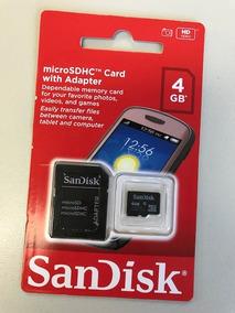 Cartão 4gb Memoria Sandisk Sdhc Class 4 Sdsdqm-004g-b35a