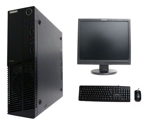 Computador Lenovo Thinkcenter M91 I3 4gb 500gb Monitor 17 Polegadas