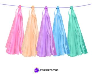 Borlas Friselina Pastel Varios Colores,