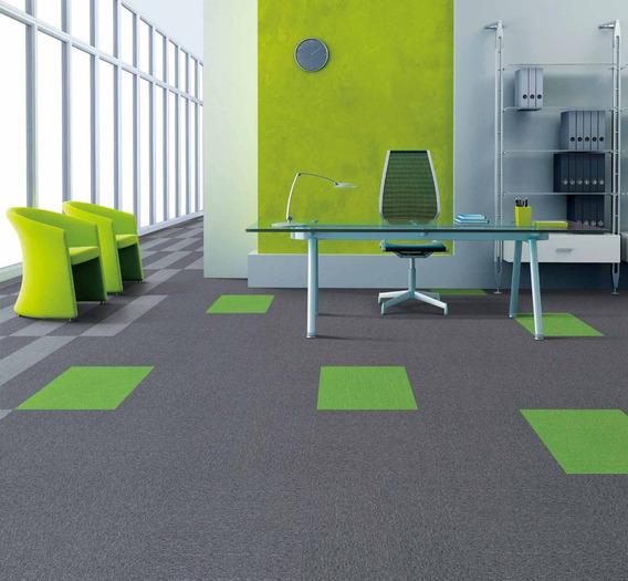 Alfombra Modular Color Full 100% Nylon Para Oficina