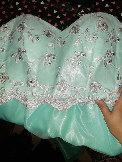 Vestido De Fiesta, Elena Ross Verde Agua
