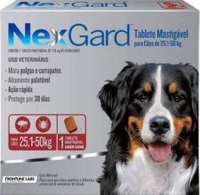 Antipulga Carrapato Nex Gard Cão 25,1 A 50 Kg 2 Comprimidos