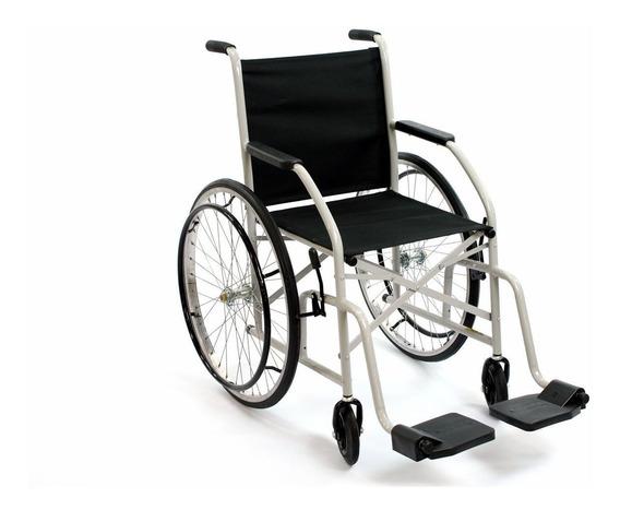 Cadeira De Rodas Cds 101 Preta Roda Raiada Com Pneus Maciços