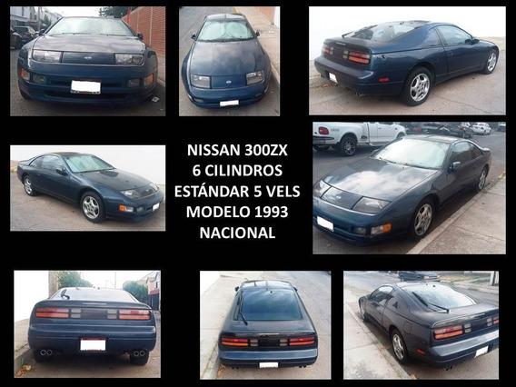 Nissan 300zx 1993 Azul Oscuro 6 Cilindros Standar Nacional