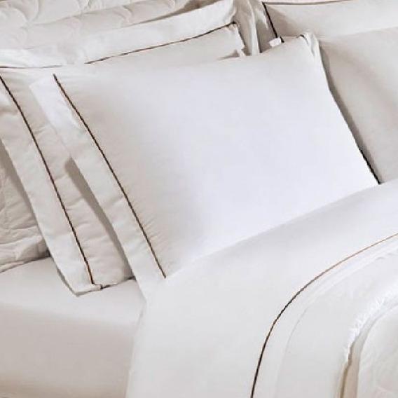 Fronha Branca Com Abas 50x70cm Safira 250 Fios