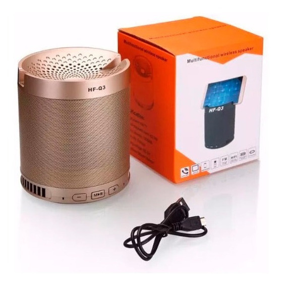 Caixa De Som Bluetooth Q3 Pen Drive Wireless Speaker Ruize