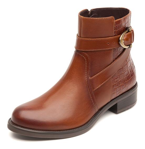 Zapatos Dama Estilo Botin Vestir Casual 46616 Cafe Flexi