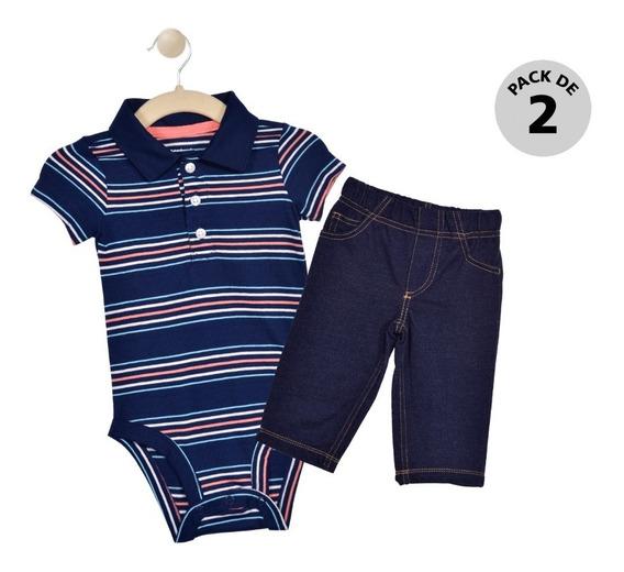 Set 2 Pzas Pañalero Y Pantalón Carters Azul Niño 15961010