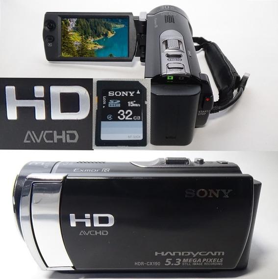 Filmadora Sony Hdr-cx190 Full Hd Zoom Otico Alta Definição