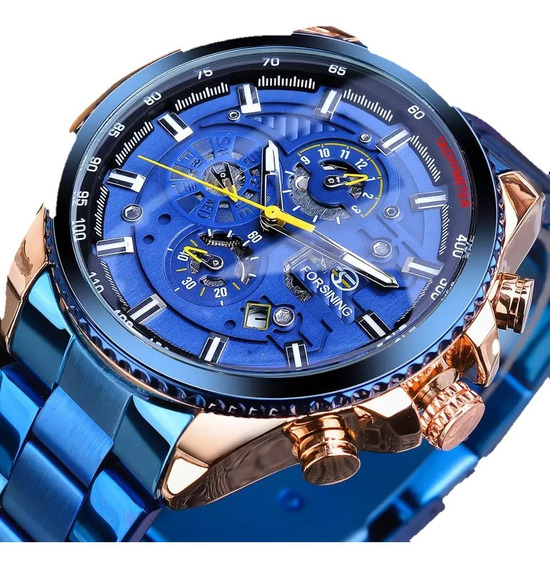 Relógio Masculino De Pulso Automático Forsining De Luxo