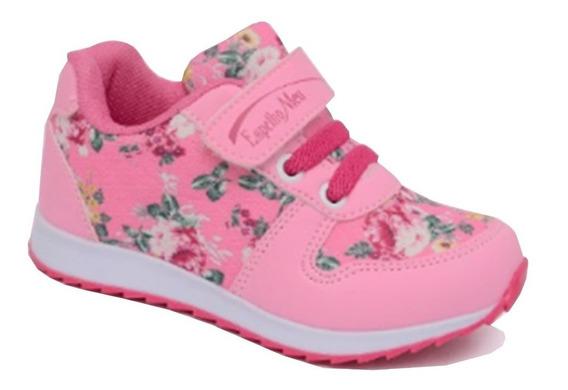 Tênis Feminino Infantil Bebê Espelho Meu Rosa