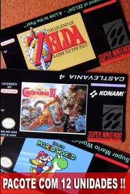 Labels Adesivas Para Cartuchos Super Nintendo S-nes 12 Unid.