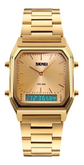 Relógio Unissex Skmei 1220 Dourado