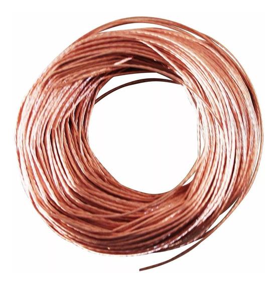 Cable De Cobre Desnudo Semiduro Calibre 12 Iusa Caja 100 Mts