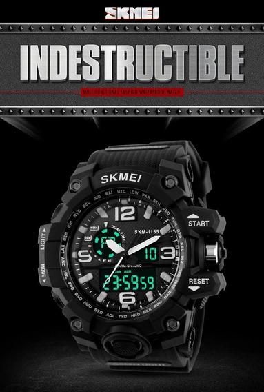 Relógio Digital Skmei 1155 Original 2 Em 1 Varias Funções