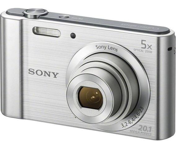 Câmera Cyber-shot Dsc-w800 20.1 Mp Zoom 5x Hd Prata Sony