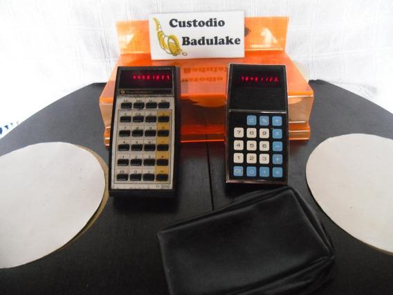 Lote 2 Antigas Calculadoras Texas Instruments Década De 70