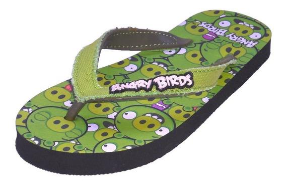 Sandalias Estampado Angry Bird Para Niños Toda Ocasion #21