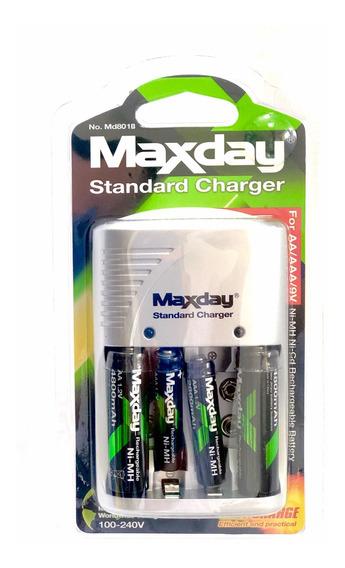 Cargador De Baterías Recargables Aaa Y Aa Maxday ( Pilas)