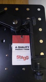 Brazo Base Partitura Acero Inoxidable Negro Perforado Stagg