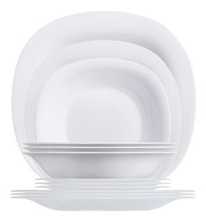 Vajilla De 12 Pzas Moderna De Opal Carine Luminarc