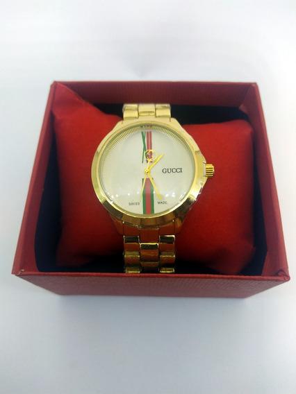 Relógio Femenino Gucci Dourado Refinado E Elegante