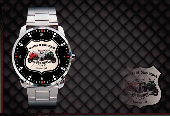 Relógio De Pulso Personalizado Moto Clube