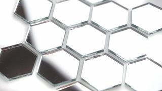 1 Hexagonal Mosaico Espejo Azulejos. 100pcs