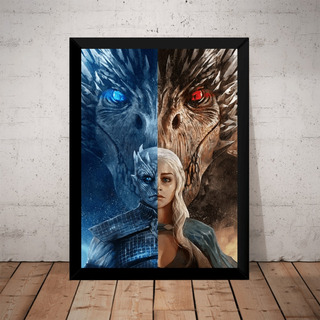 Quadro Game Of Thrones Targaryen X Rei Da Noite Dragões
