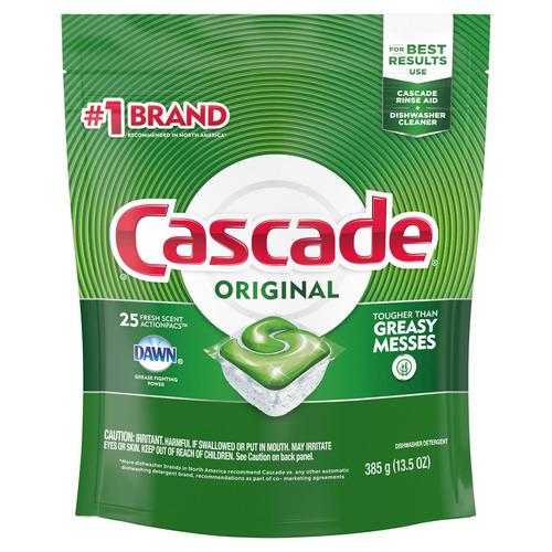 Imagen 1 de 2 de Detergente para lavavajillas Cascade Original actionpac en pack 25u