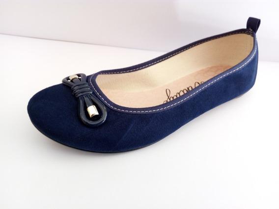 Sapatilha Moleca Azul Marinho Ou Jeans Promoção