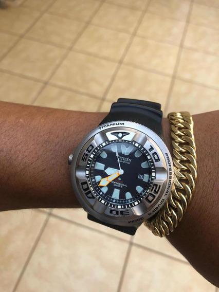 Relógio Citizen Bj8040 Titanium Usado Em Excelente Condição