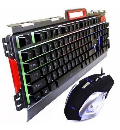 Kit Gamer Barato Teclado Semi Mecanico Mouse 3200 Dpi C/ Led