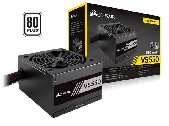Fonte Gamer 550w Real Corsair Vs550 80plus White Atx Pfc Ati