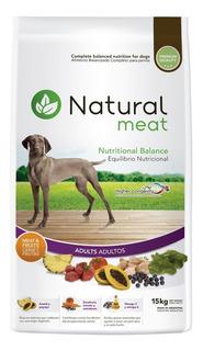 Natural Meat Perro Adulto Carne Y Frutas 15 Kg