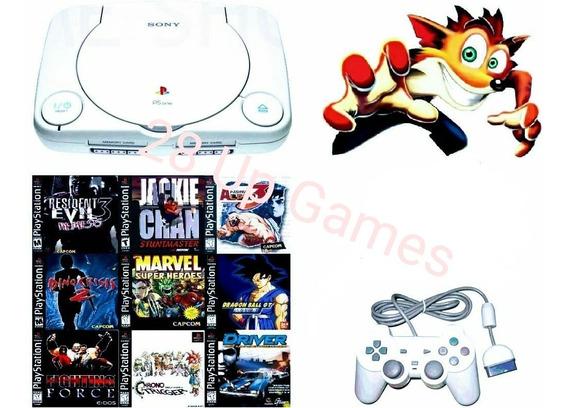 Playstation 1 Ps1 Psone + Controle + Av + Fonte + Jogos