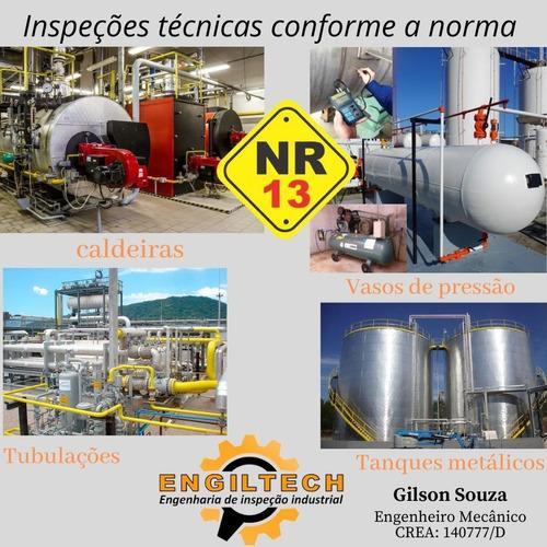 Imagem 1 de 1 de Engenheiro Mecânico Para Inspeção Nr13 - Curitiba E Região