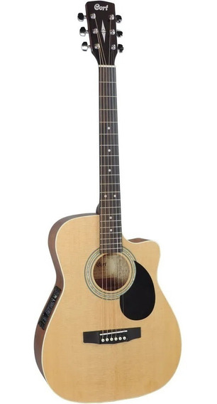 Violão Cort Af 540ce Natural Satin - Folk - Com Case