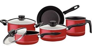 Batería De Cocina Victoria Roja Tramontina
